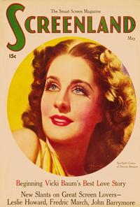 Norma Shearer - 27 x 40 Movie Poster - Screenland Magazine Cover 1930's Style A