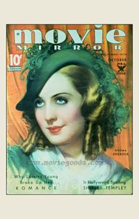 Norma Shearer - 27 x 40 Movie Poster - Movie Mirror Magazine Cover 1930's Style A