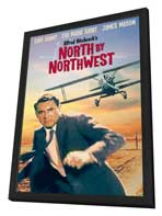 North by Northwest - 11 x 17 Movie Poster - Style D - in Deluxe Wood Frame