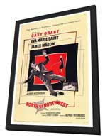 North by Northwest - 27 x 40 Movie Poster - Style A - in Deluxe Wood Frame