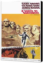 North by Northwest - 11 x 17 Movie Poster - Style B - Museum Wrapped Canvas