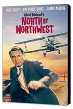 North by Northwest - 11 x 17 Movie Poster - Style D - Museum Wrapped Canvas
