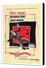 North by Northwest - 27 x 40 Movie Poster - Style A - Museum Wrapped Canvas