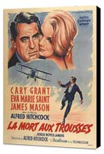 North by Northwest - 27 x 40 Movie Poster - French Style B - Museum Wrapped Canvas