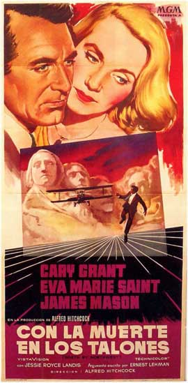 North by Northwest - 11 x 17 Movie Poster - Spanish Style A