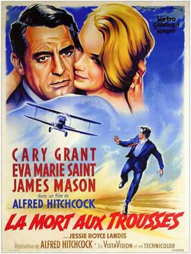 North by Northwest - 11 x 17 Movie Poster - Italian Style B