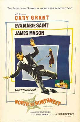 North by Northwest - 11 x 17 Movie Poster - Style E