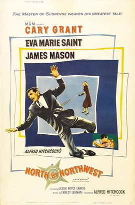 North by Northwest - 27 x 40 Movie Poster - Style B