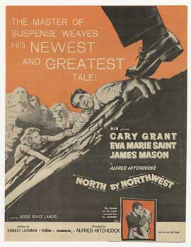 North by Northwest - 11 x 17 Movie Poster - Style G