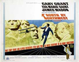 North by Northwest - 22 x 28 Movie Poster - Half Sheet Style B