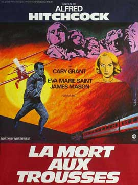 North by Northwest - 27 x 40 Movie Poster - French Style A