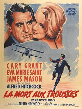 North by Northwest - 27 x 40 Movie Poster - French Style B
