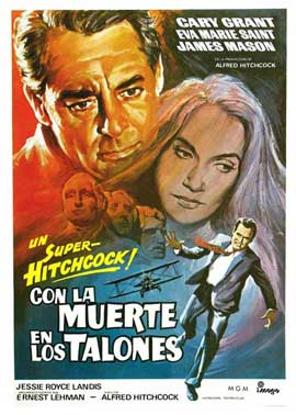 North by Northwest - 27 x 40 Movie Poster - Spanish Style A