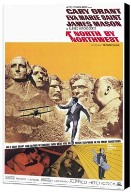 North by Northwest - 27 x 40 Movie Poster - Style D - Museum Wrapped Canvas
