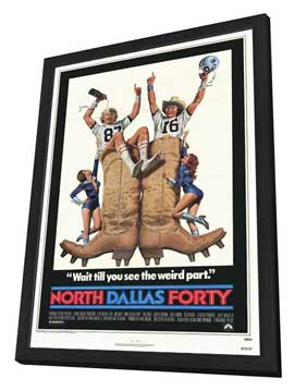 North Dallas Forty - 27 x 40 Movie Poster - Style A - in Deluxe Wood Frame