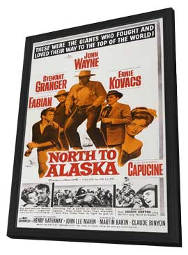 North to Alaska - 27 x 40 Movie Poster - Style C - in Deluxe Wood Frame