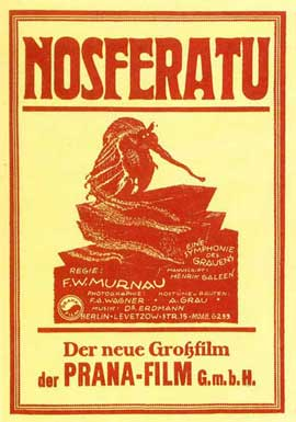 Nosferatu, a Symphony of Horror - 11 x 17 Movie Poster - German Style A