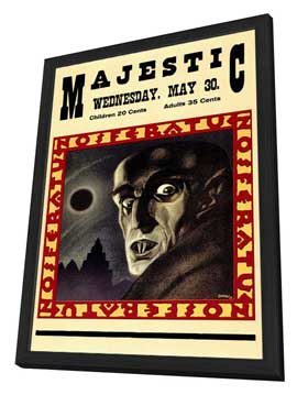 Nosferatu, a Symphony of Horror - 11 x 17 Movie Poster - Style A - in Deluxe Wood Frame