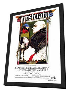 Nosferatu the Vampyre - 27 x 40 Movie Poster - Style A - in Deluxe Wood Frame
