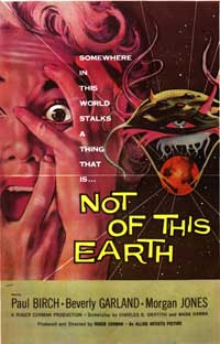 Not of this Earth - 27 x 40 Movie Poster - Style B