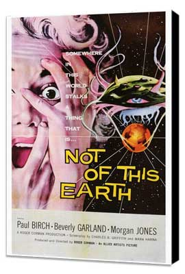 Not of this Earth - 27 x 40 Movie Poster - Style A - Museum Wrapped Canvas