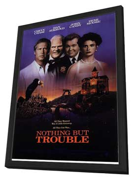 Nothing But Trouble - 11 x 17 Movie Poster - Style A - in Deluxe Wood Frame