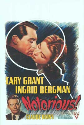 Notorious - 11 x 17 Movie Poster - Belgian Style A