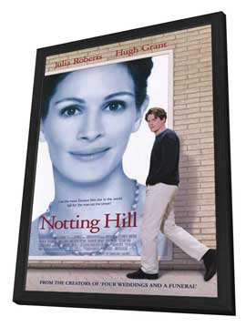 Notting Hill - 11 x 17 Movie Poster - Style A - in Deluxe Wood Frame