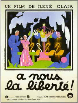 A Nous la Liberte - 11 x 17 Movie Poster - French Style A