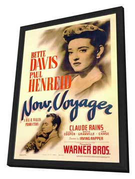 Now, Voyager - 27 x 40 Movie Poster - Style A - in Deluxe Wood Frame