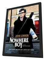 Nowhere Boy - 27 x 40 Movie Poster - French Style A - in Deluxe Wood Frame