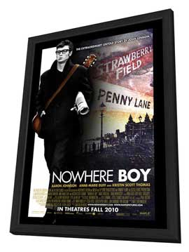 Nowhere Boy - 11 x 17 Movie Poster - Canadian Style A - in Deluxe Wood Frame
