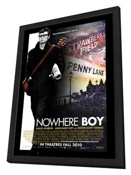 Nowhere Boy - 27 x 40 Movie Poster - Canadian Style A - in Deluxe Wood Frame