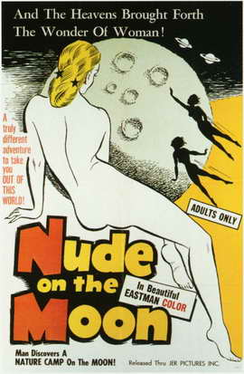 Nude on the Moon - 11 x 17 Movie Poster - Style A