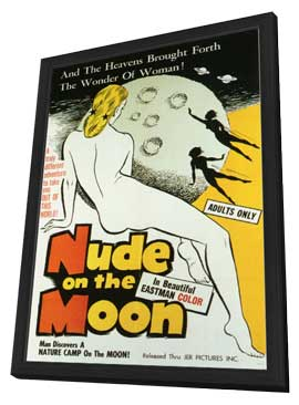 Nude on the Moon - 11 x 17 Movie Poster - Style A - in Deluxe Wood Frame