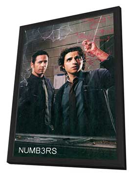 Numb3rs - 11 x 17 TV Poster - Style B - in Deluxe Wood Frame