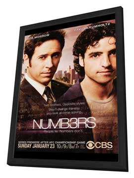 Numb3rs - 27 x 40 TV Poster - Style A - in Deluxe Wood Frame