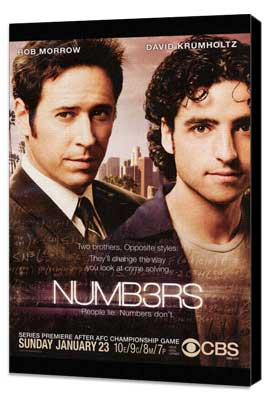 Numb3rs - 27 x 40 TV Poster - Style A - Museum Wrapped Canvas