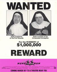 Nuns on the Run - 27 x 40 Movie Poster - Style B