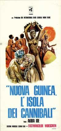 Nuova Guinea: L'isola dei cannibali - 13 x 28 Movie Poster - Italian Style A