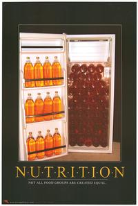 Nutrition Beer - Party/College Poster - 24 x 36 - Style B