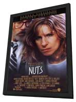 Nuts - 11 x 17 Movie Poster - Style A - in Deluxe Wood Frame