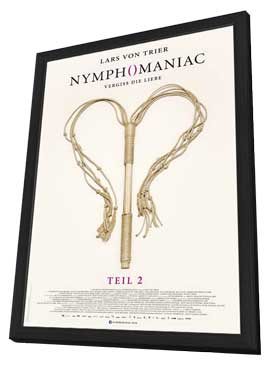 Nymphomaniac Part Two - 27 x 40 Movie Poster - German Style A - in Deluxe Wood Frame