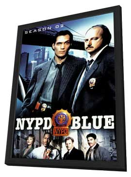 NYPD Blue - 11 x 17 TV Poster - Style E - in Deluxe Wood Frame