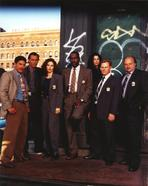 NYPD Blue - NYPD Blue Group Picture in Formal Attire with Badge