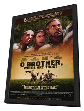 O Brother Where Art Thou? - 11 x 17 Movie Poster - Style B - in Deluxe Wood Frame