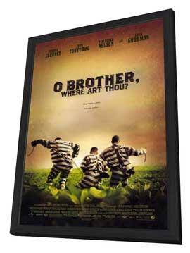 O Brother Where Art Thou? - 11 x 17 Movie Poster - Style A - in Deluxe Wood Frame