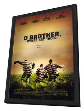 O Brother Where Art Thou? - 27 x 40 Movie Poster - Style A - in Deluxe Wood Frame