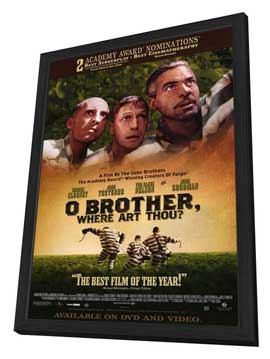 O Brother Where Art Thou? - 27 x 40 Movie Poster - Style B - in Deluxe Wood Frame