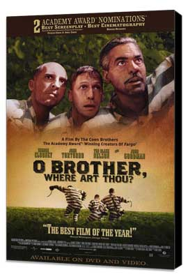 O Brother Where Art Thou? - 11 x 17 Movie Poster - Style B - Museum Wrapped Canvas